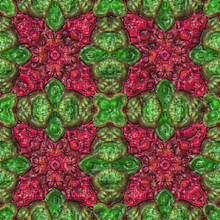 3d Effect - Abstract Green Red Fractal Graphic