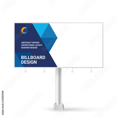 Obraz Billboard sign, banner design ideas for outdoor advertising, inspirational graphic design for placing photos and text, vector red background  - fototapety do salonu