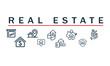 Real Estate banner concept vector design