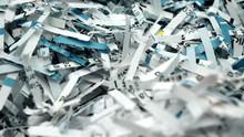 Paper Scraps Of Shredded Docum...