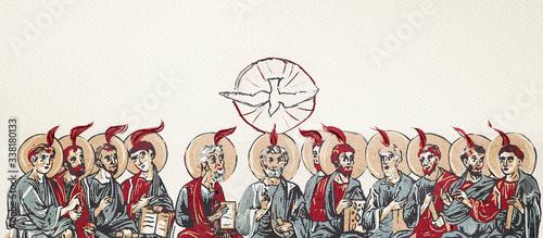 Fotografie, Obraz Pentecost. Christian banner