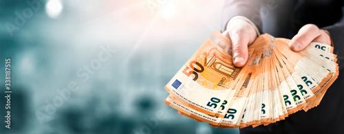 Fotomural Euro money wide banner