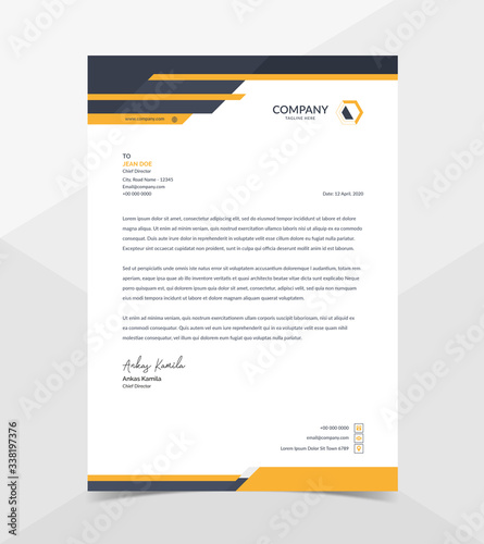 Fototapeta Professional And Modern Corporate Letterhead Template obraz