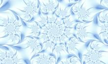 Fractal Pattern, Spiral, White