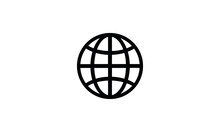 Simple Line Globe Icon,World G...