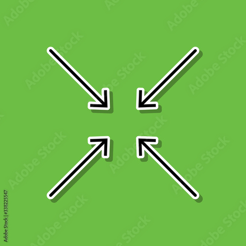Photo Approximate a macro sticker icon