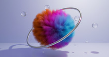 Abstract Furry And Colorful Co...