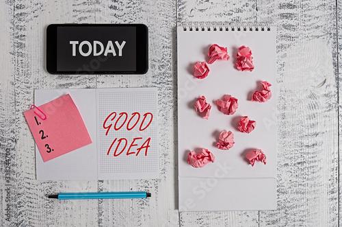 Word writing text Good Idea Canvas-taulu