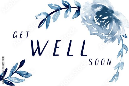 Get well soon card printable Tablou Canvas