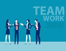 Team In Office Suit Staanding ...