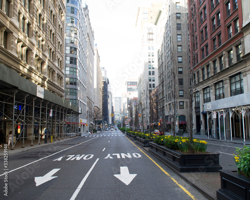 quarantine in New york 2020 empty streets of New York