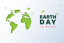 Green Earth With Earth Day And...