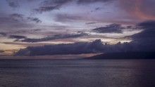 Timelapse Of Sunset Light On High Clouds From West Maui