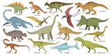 Fototapeta Dino - Dinosaur isolated cartoon set icon. Vector cartoon set icon dino animal. Vector illustration dinosaur on white background.