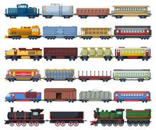 Locomotive With Wagon Isolated...
