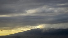 Timelapse Of Sunset Light On Beautiful Clouds Over Molokai From West Maui
