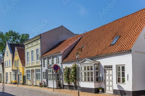 Obraz na plátně Colorful houses in the historic center of Tonder, Denmark