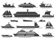 Silhouette Of Vessels