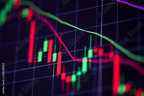 Stock market exchange loss trading graph analysis investment indicator business Canvas Print