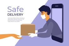 Safe Delivery Service Concept....