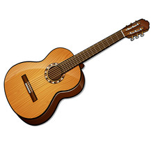 Vector Classical Guitar Isolat...
