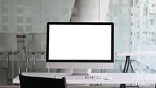 White Blank Screen Monitor Put...