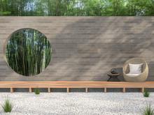 Zen Garden Style Idea 3d Rende...