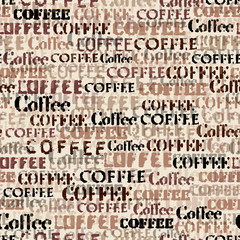 Panel Szklany Kawa Coffee. Abstract coffee pattern. Seamless image