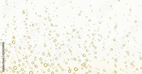 Soda bubbles, champagne, water or oxygen air fizz, carbonated drink or underwater abstract background Canvas-taulu