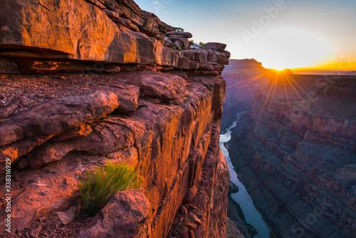 Canvastavla scenic view of Toroweap overlook at sunrise  in north rim, grand canyon national park,Arizona,usa