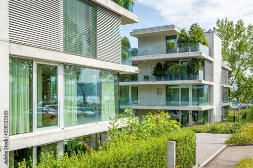 Fototapeta Contemporary apartment building in Zurich, Switzerland