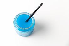 Paintbrush Soaking In Jar
