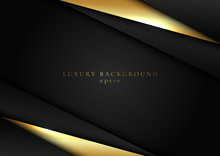 Abstract Elegant Template Black And Gold Triangle Overlapping Dimension On Dark Background Luxury Style