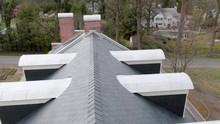 Aerial Turn Above Slate Roofto...