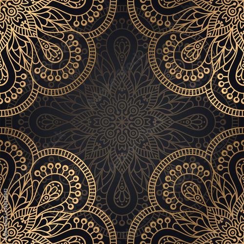 luxury ornamental mandala design background Wallpaper Mural