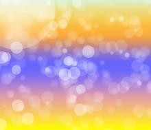 Light Bokeh On Muti Color Background