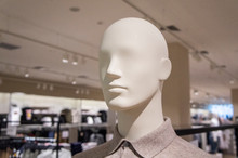 Heads Of Mannequins In Clothes...