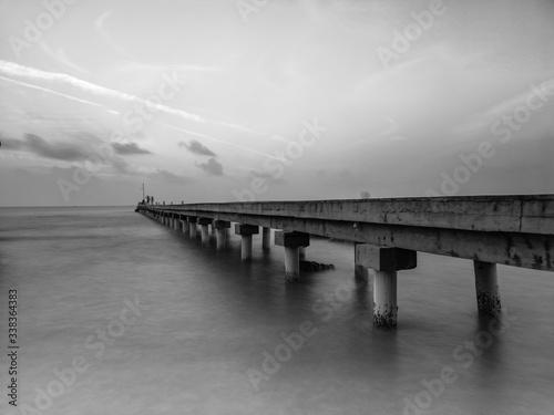 Fototapeta Pier Over Sea Against Sky obraz na płótnie