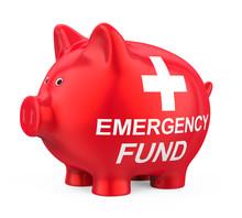 Emergency Fund Piggy Bank Isolated
