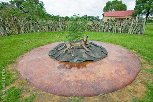 Photo Zulu battle memorial at Rorke's Drift/Shiyani Battlefield, where on January 22,