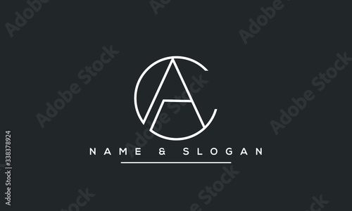 Photo AC ,CA ,A ,C  Letter Logo Design with Creative Modern Trendy Typography
