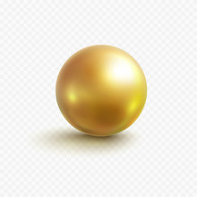 Gold Bead Isolated On Transpar...