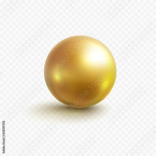 Gold bead isolated on transparent background Fototapeta