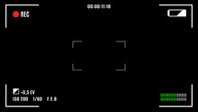 Camera Recording Screen, Viewfinder On Black Background