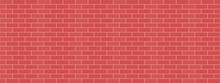 Red Bricks Wall Background Vec...