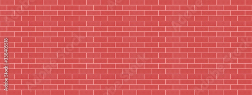 Red bricks wall background vector illustration pattern seamless textures  - 338405518