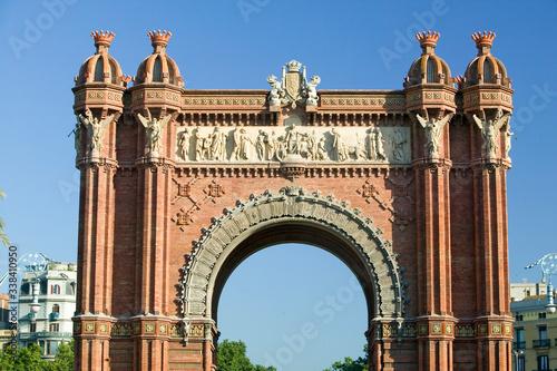 Arc de Triumf: L'Arc de Triumph, by Josep Vilaseca I Casanovas, in Barcelona, Sp Canvas Print