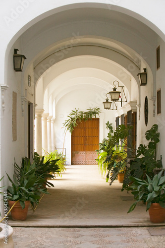 Fototapeta Old Sevillan Courtyard, Sevilla, Andalucia, Southern Spain obraz