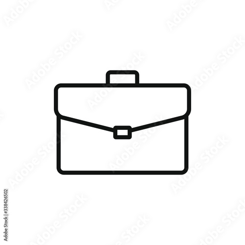 simple icon of a briefcase vector illustration Canvas Print