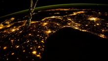 Space View, Earth Planet Night...